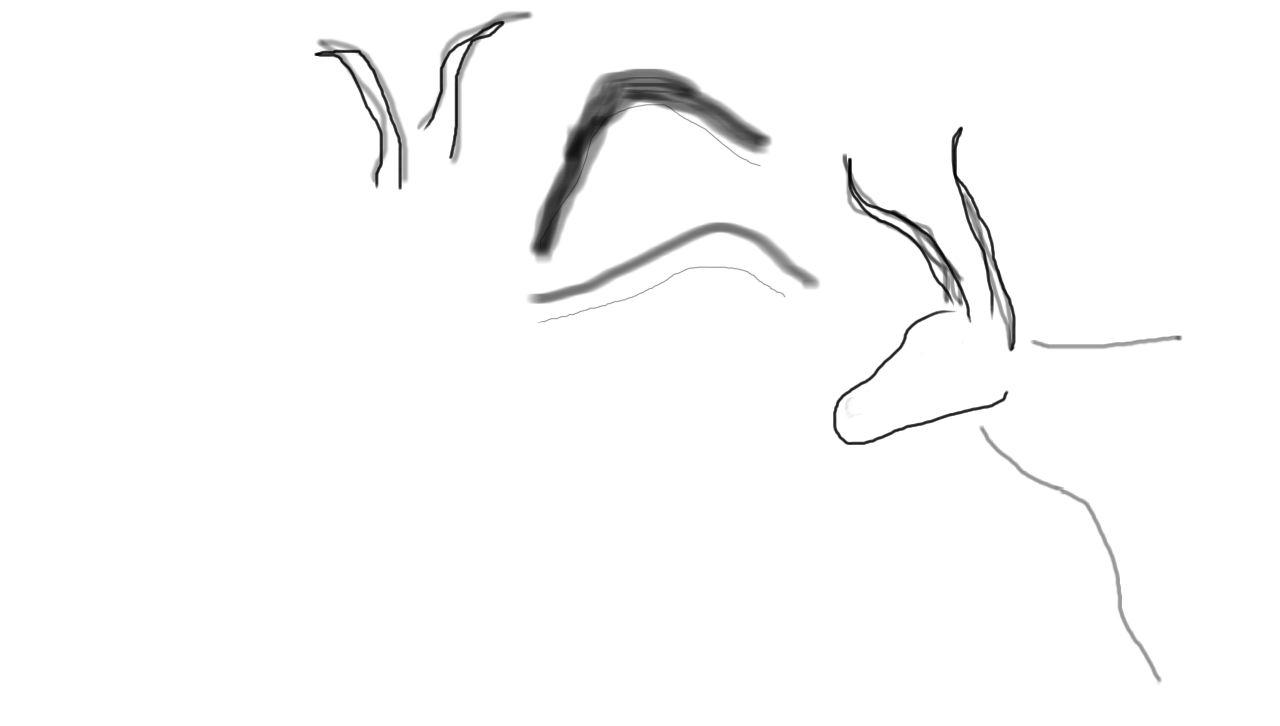 angedeutete zeichnung der tiere